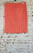 J. Crew No. 2 Pencil Skirt Women's Size 0 In Neon Tweed Pink Orange Knee Length
