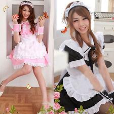 Sweet Girls Lolita Cosplay French Maid Costume Princess Dresses Performance Wear