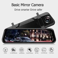 "1080P Front and Rear Mirror Camera Video Recorder 10"" Dual Lens Car DVR Dash Cam"