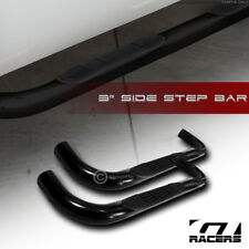 Bully Adjustable Black Silver 2 Side Steps 1976-1993 Chevrolet S10 All Cab Size