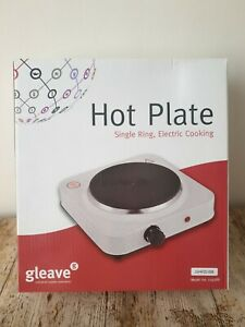 Gleave 129388 1.5kw Electric Single Hotplate, 1500 W, White Portable Easy clean!