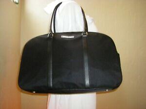 Michael Kors Chatham XL Bowling Satchel Bag Black Nylon Travel Gym Weekender NEW