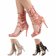 Party Strappy, Ankle Strap Multi-Coloured Heels for Women