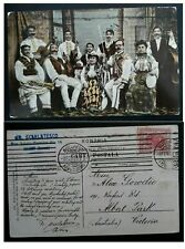 "SCARCE 1908 Romania Postcard ""Lăutari Group"" ties 10B stamp Bucharest"
