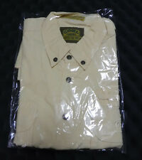 Camel Trophy Adventure Wear Safari Shirt Cargo Button Short Sleeve Yellw Size XL