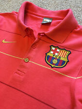 GORGEOUS NIKE BARCELONA FOOTBALL CLUB FCB POLO SHIRT S SMALL COST £60
