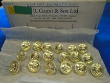 More details for 18 x new royal navy 19mm anodised gold officers jacket/blazer naval buttons