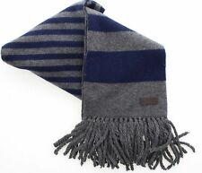 c94e36c6184 Coach 83139 Men s Wool Cashmere Knit Striped Scarf Navy Gray Fringed
