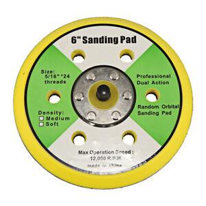 "6"" Dual Action Random Orbital Sanding Pad Fits Air Sander 12000RPM Brand New"