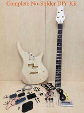 No-Solder Full Kit Electric Bass Guitar DIY EB-302DIY w/Free Digital Tuner,Picks