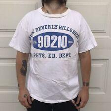 vintage 90210 t-shirt blue white 90s tv show beverly hills rare XL tee grunge