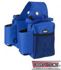 Tough 1 Royal Blue Trail Deluxe Heavy Duty Borsa da Sella isolati Horse Tack
