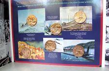 Canada Remembers Commemorative 6 Bronze War Medallion Set  WW2 WWII New