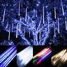 30cm 144 LED Light Meteor Shower Rain 8 Tube Xmas Snowfall Tree Outdoor Light SS