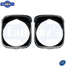 1969 Chevelle Malibu Headlamp Head Lamp Bezels Inner & Outer RH - Dynacorn