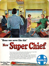 Santa Fe Super Chief TOM HALL Grand Hotel On Rails BLACK PORTER 1951 Magazine Ad