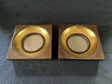 Pair of Square Wood Deep Set Picture Frames