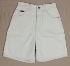 Vintage Women's 80' LEE White Shorts High Waisted Relax Fit NEW Size 18