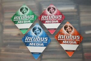 Incubus  - 4x unused Backstage Pass - Lot # 02    - FREE POSTAGE --