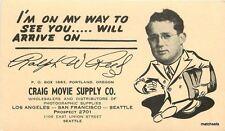 1930s Craig Movie Supply Portland Oregon undivided postcard 8864
