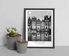 Vintage Amsterdam Retro Wall Art,Travel poster,gift