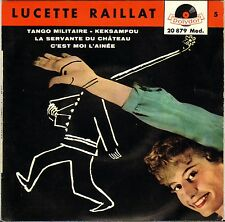 """LUCETTE RAILLAT """"TANGO MILITAIRE"""" 50'S EP POLYDOR 20879"""