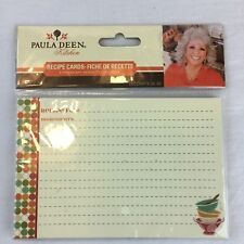 Paula Deen Blank Recipe Cards (20) Count Print Front and Back Lined Sealed
