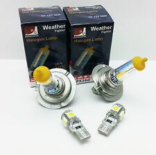 H7 LOW BEAM HIGH W5W LED PARKING WEATHER FIGHTER CAR BULBS HEADLIGHTS SET 12V D