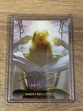 EMMA FROST 2020 UD MARVEL MASTERPIECES GOLD FOIL LEVEL 4 CARD#90