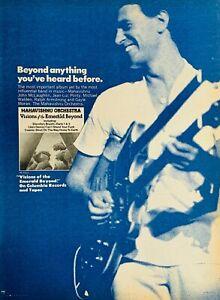 MAHAVISHNU ORCHESTRA 1975 ADVERT VISIONS OF THE EMERALD BEYOND John McLaughlin