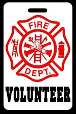 VOLUNTEER Firefighter Luggage/Gear Bag Tag - FREE Personalization - New