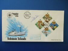1986 OPERATION RALEIGH SOLOMON ISLES COVER SIGNED BY COLONEL MD JOHNSTONE OBE