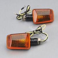 2x Motorcycle Motorbike Turn Signal Indicators Light Bulb Amber 12V Orange Lens