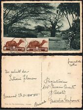 STORIA POSTALE Colonie ERITREA 1935 Cart. da Asmara a Guardia Sanframondi(GB1)