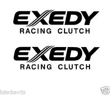 (2) 7 inch Exedy Racing Clutch Decal Sticker