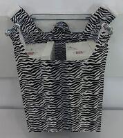 "Zebra Print Design Plastic T-Shirt Shopping Bags Handles 11.5""x 6""x21"" Bags Only"