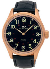 Glycine KMU 48 Kriegs Marine Uhren RG Plated Steel Mens Watch 3906.29AT LBK7D