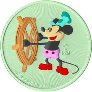 Niue 2017 2$ Steamboat Willie - Andy Warhol - Green - 1 Oz Silver Coin