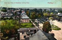 Vintage Postcard - 1908 Birds Eye View Of Broadway Long Island New York NY #4296