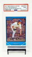 2007 Bowman Chrome Dodgers Ace CLAYTON KERSHAW Rookie Baseball Card PSA 9 MINT