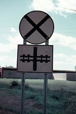 Slide CANADIAN RAILROAD CROSSING SIGN  #A79