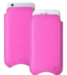 iPhone 11   iPhone XR Case PINK Leather NueVue SANITIZING Screen Clean Sleeve
