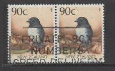 NEW ZEALAND 1988 90c ROBIN Used Pair Birds