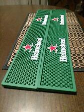 Two Heineken Rubber Beer Spill Mats. 21 X 3 1/2 X 1/2. New