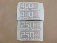 honda cb250n cb400n superdream side panel decals ,classic restoration ,paint