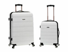 Rockland 20 Inch 28 2pc Expandable ABS Spinner Set White One Size