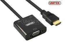 New Unitek Y-6333 HDMI to VGA Converter with audio ( for TV AV HDTV Video )