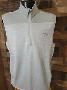 Callaway Weather Series Vest Golf Mens Large Gray