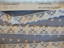 Exclusive FC277 OFF  White Cotton Nottingham Valenciennes Lace by Cluny Lace Co