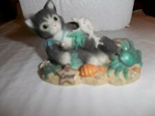 """Calico Kitten Figurine """"Cancer-You Are Kind, Sensitive And Protective"""""""